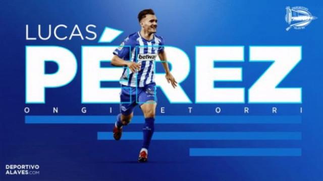 Lucas Perez Alaves ile 3 yıllık sözleşme imzaladı