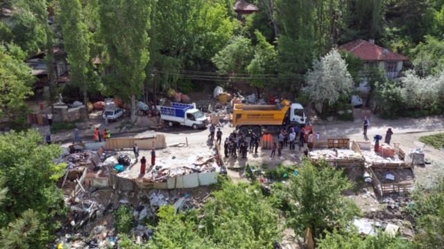 Ankara Zabıtası'ndan çöp ve atık mücadelesi