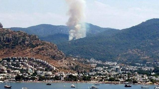 Turizm cenneti alev alev ! Bodrum'da orman yangını...