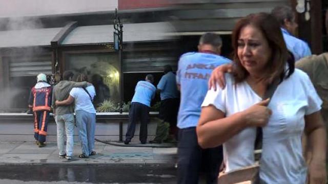 Restoranı yanarken gözyaşlarına boğuldu