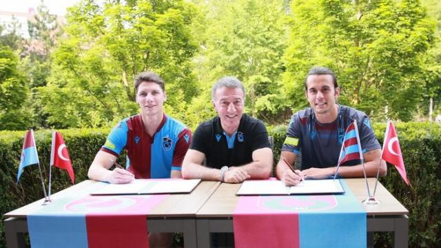 Trabzonspor'da Campi ve Erce için imza töreni düzenlendi