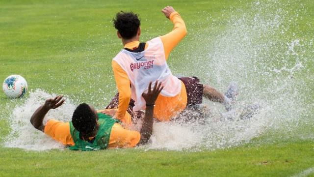 Galatasaray'da kıran kırana idman