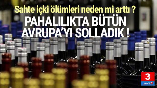 Alkolde en pahalı ikinci ülke Türkiye oldu