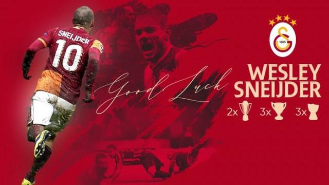 Galatasaray'dan Wesley Sneijder paylaşımı
