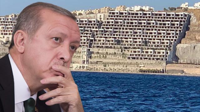 Erdoğan Bodrum'daki kaçak yapıyı inceledi