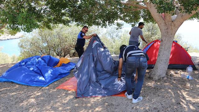 Turizm cennetinde ''çadır'' operasyonu