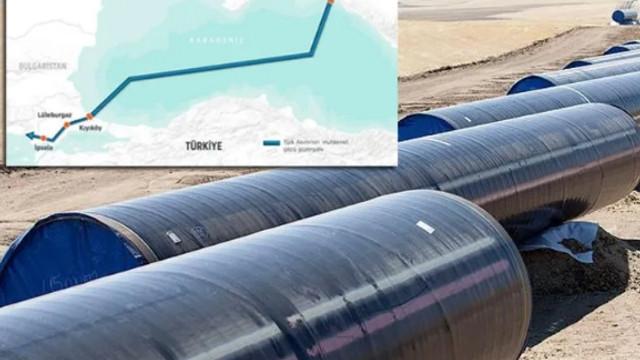 Kıyıköy'deki TürkAkım alım terminalinin %95'i hazır