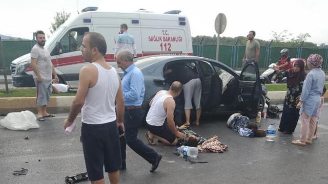 Sancaktepe'de kaza: Her yere savruldular