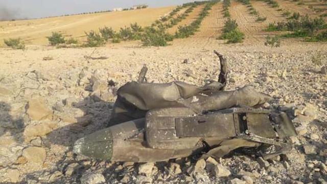 İdlib'de savaş uçağı düşürüldü