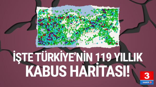 AFAD Türkiye'nin son 119 yıllık deprem gerçeğini paylaştı