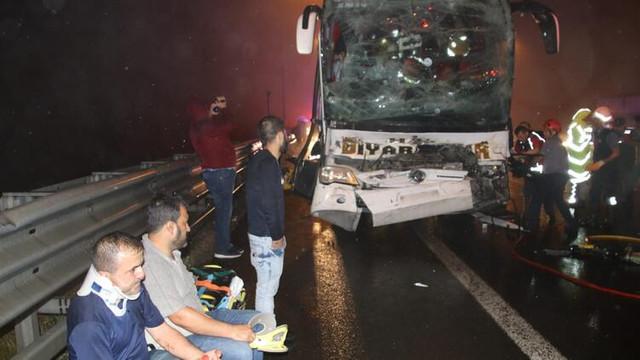 Bolu Dağı'nda otobüs kazası: 37 yaralı