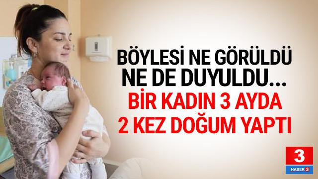 Kazakistan'da bir kadın 3 ayda 2 kez doğum yaptı