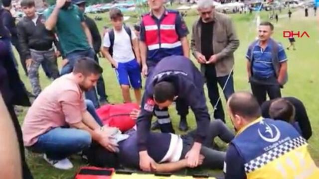Ayder Yaylası'nda salıncak kazası