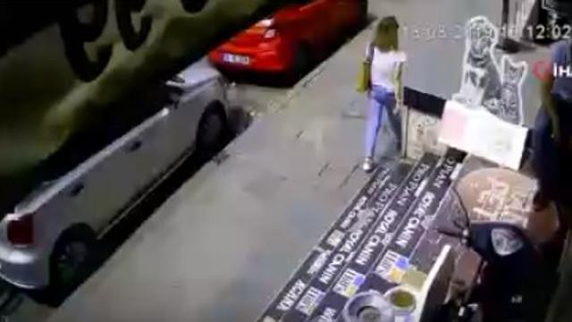 Şişli'de kadının üstüne kartonpiyer parçaları düştü