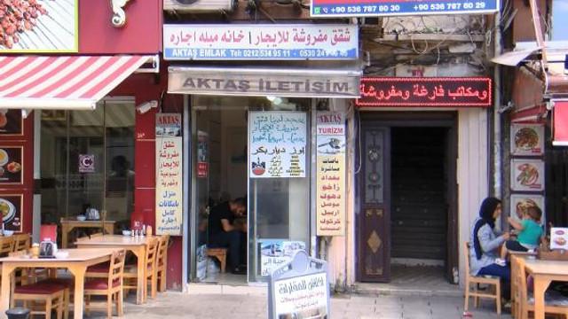 İstanbul'da Arapça tabelalar hala kaldırılmadı