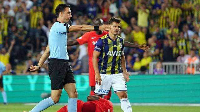Fenerbahçe - Gazişehir Gaziantep maçının ilk yarısında 3 penaltı kararı verildi