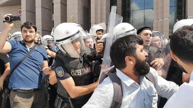 Çağlayan'daki kayyum protestosuna müdahale !