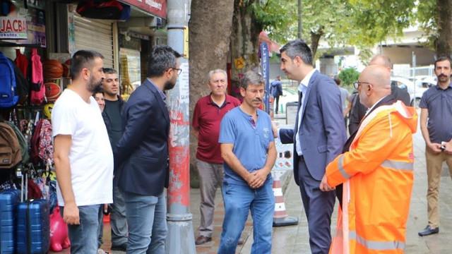 Gökhan Yüksel, Ankara Caddesi'nde tedbirleri denetledi