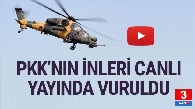 PKK'nın inleri canlı yayında böyle vurulduı