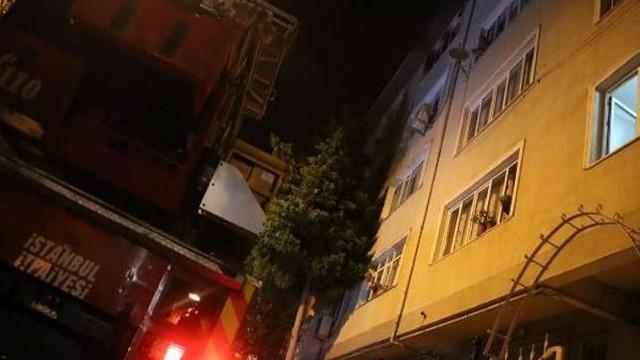 İstanbul'da öğrenci evinde yangın