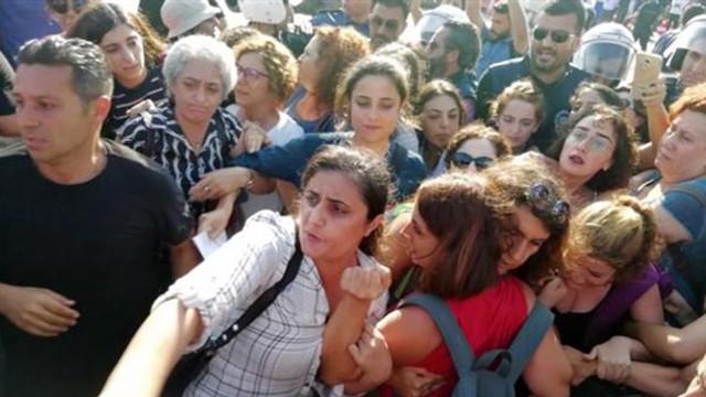 Kadınların kayyum protestosuna polis müdahalesi!