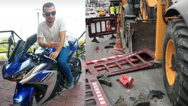 Karaköy'de korkunç olay ! Motosikletli genç kepçenin dişlisine takıldı