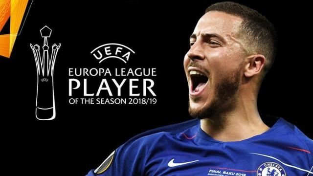 UEFA Avrupa Ligi'nde yılın futbolcusu Eden Hazard