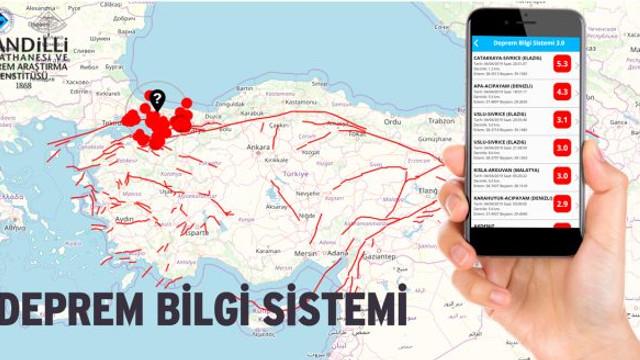 Kandilli'den depremleri bilgilendiren uygulama