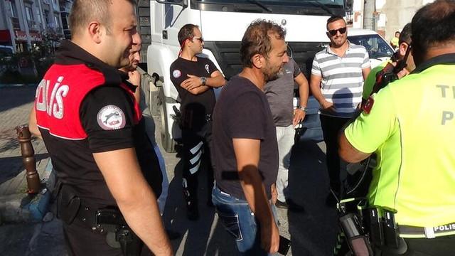 Yasak yola giren TIR'cının polise verdiği cevap şaşırttı