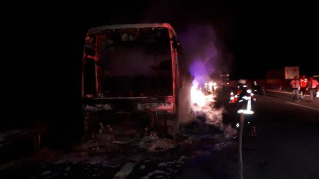 Yine otobüs yangını: 40 yolcu ölümden döndü
