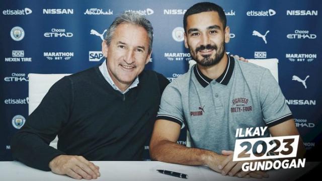 Manchester City, İlkay Gündoğan'ın sözleşmesini 4 yıl uzattı