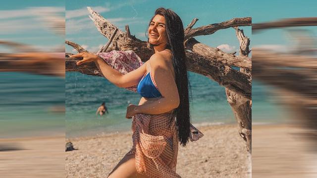Mayolu pozu olay olan Hanife'den bikinili paylaşım