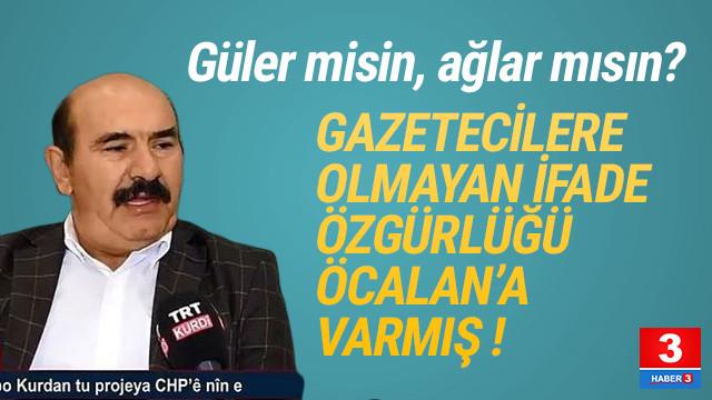 Öcalan'ın TRT'ye çıkartılması ifade özgürlüğü oldu