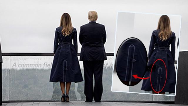 Melani Trump'ın kıyafet ABD'yi karıştırdı