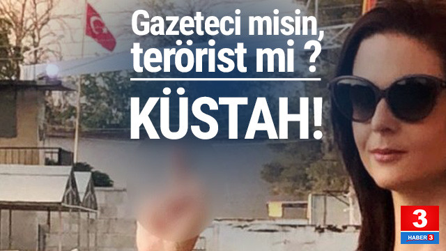 ABD'li gazeteciden Türk Bayrağı'na büyük saygısızlık