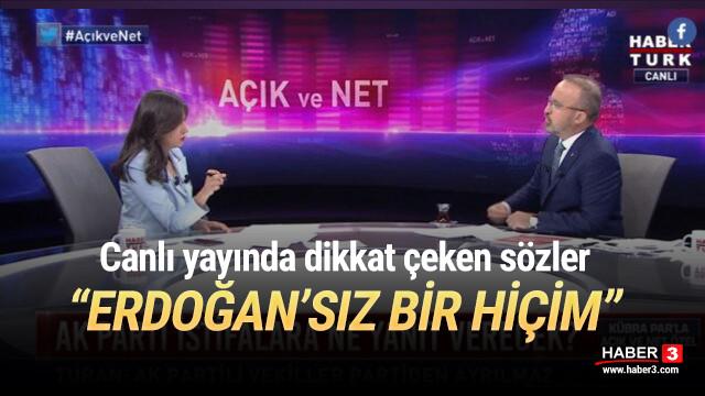 AK Partili isimden dikkat çeken sözler: ''Erdoğan'sız bir hiçim''
