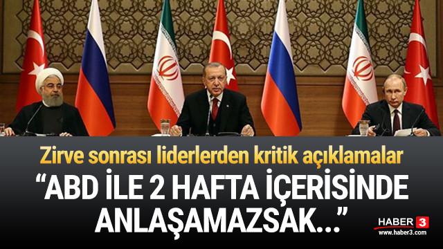 Ankara'daki üçlü zirve sona erdi ! Kritik açıklamalar...