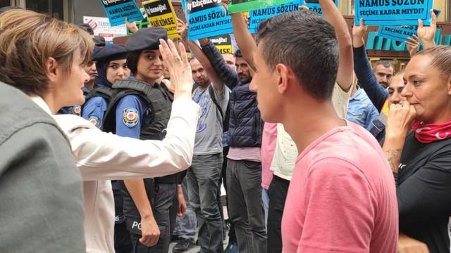 CHP'li Kaftancıoğlu işten çıkarılan vatandaşlarla görüştü
