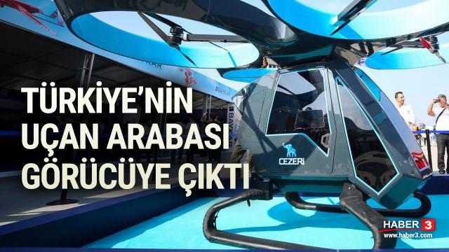 Türkiye'nin uçan arabası ''Cezeri'' TEKNOFEST'te görücüye çıktı