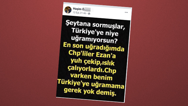 Cami imamı CHP'yi şeytana benzetti