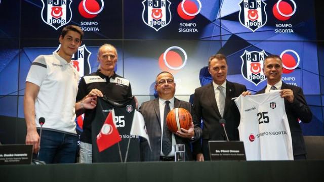 Beşiktaş, Sompo Sigorta ile sponsorluk anlaşmasını bir yıl uzattı
