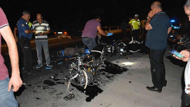 Ters yön faciası ! Motosikletler çarpıştı: 2 ölü