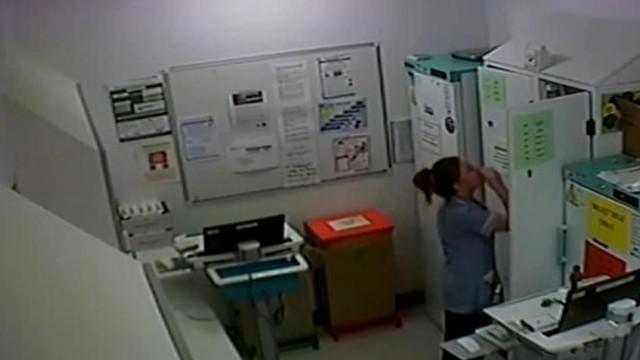 İlaç hırsızı hemşire kameraya yakalandı