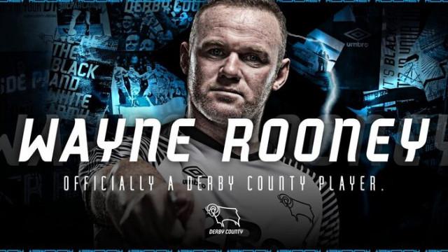 Wayne Rooney, Derby County'e imza attı