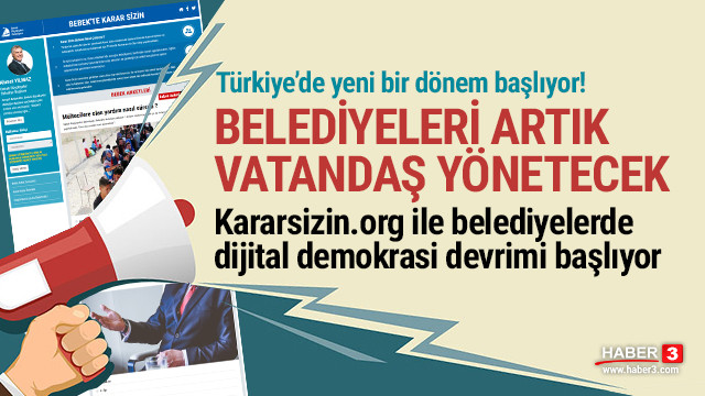Kararsizin.org sitesi ile belediyelerde dijital demokrasi devrimi başlıyor