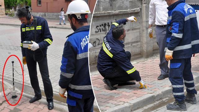 Elektrik kesintisine bakarken kaçak hat buldular !