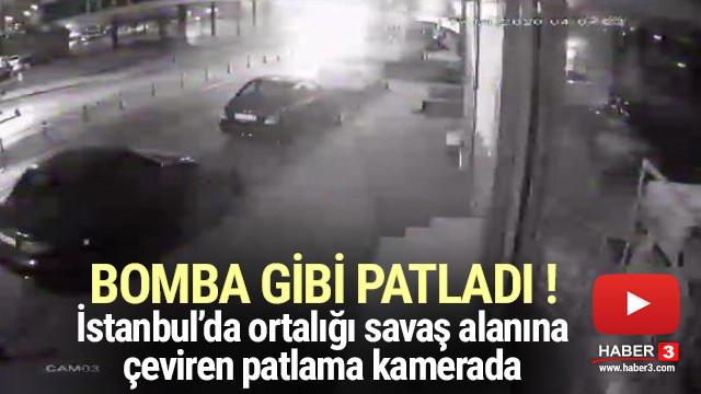 İstanbul'da patlama ! Ortalık savaş alanına döndü
