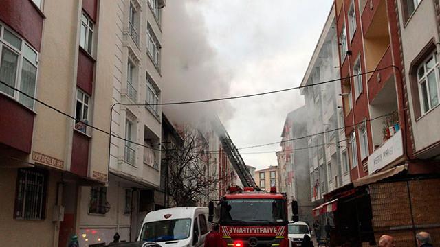İstanbul'da korkutan yangın! Mahsur kaldılar