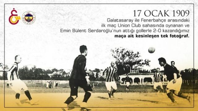 Galatasaray, Fenerbahçe ile ilk oynadıkları derbiyi paylaştı