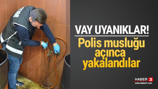 Polis musluğu açınca yakayı ele verdiler !